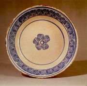 The decoration on this plate was applied by means of a simple stamp.
