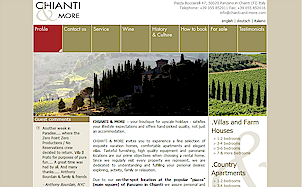 Chianti and More custom CMS