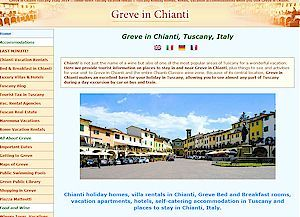Greve in Chianti vacation rentals villas hotels places to stay Greve in Chianti Tuscany Italy