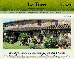 Vacation Rentals in Tuscany Villa Le Torri, Holiday Apartments in Chianti, Tuscany