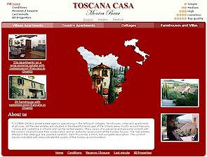 Toscana Casa accommodations in Tuscany, vacation apartments in Tuscany