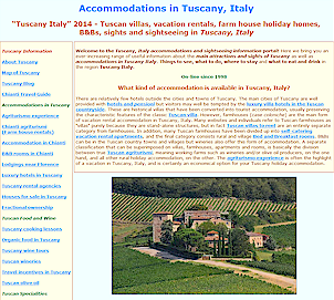 Accommodations in Tuscany Italy, sights of Tuscany, agriturismi in Tuscany