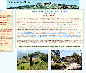 Panzano in Chianti Tuscany Italy holiday homes vacation rentals in Panzano
