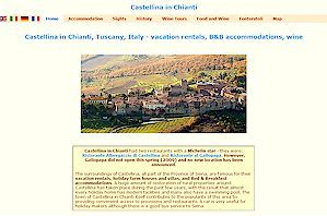 Castellina in Chianti Tuscany vacation apartment rentals, holiday accommodation