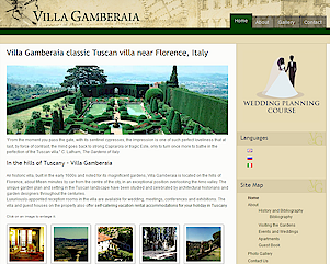 Villa Gamberaia classic Tuscan villa gardens, event venue and vacation accommodation near Florence