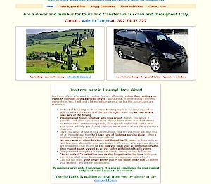 driver and minibus for tours and transfers in Tuscany